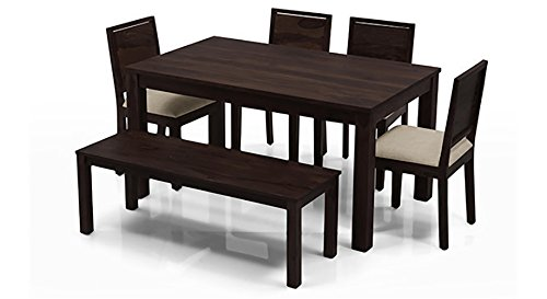 Urban Ladder Arabia Oribi Six Seater Dining Table Set (Mahogany)