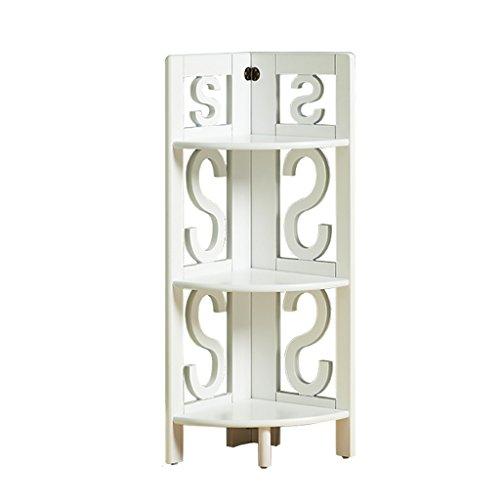 REGAL ZCJB Mehrschichtiges Eckregal-stehendes Schlafzimmer-Verzierungs-Dreieck-Holzgestell-Ausstellungsstand-Wohnzimmer-Solides Hölzernes Lagerregal (Farbe : Weiß, größe : 3-Tier)