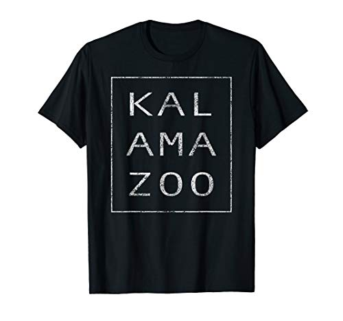 Das Original Modern Retro Kalamazoo Michigan T-Shirt -