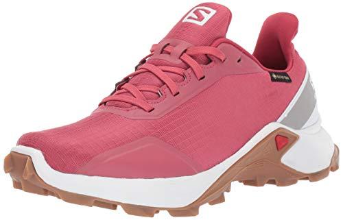 Salomon ALPHACROSS GTX W, Zapatillas de Trail Running para Mujer, Rojo Garnet Rose/White/Gum1a, 44...