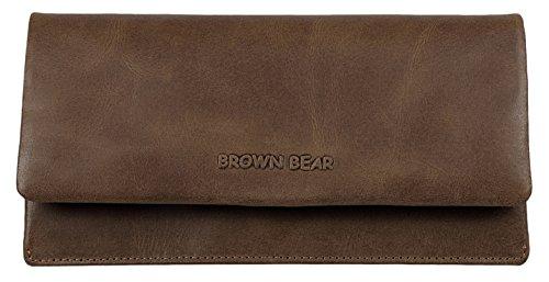 Brown Bear Geldbörse Damen Leder braun Vintage Mika bh-br