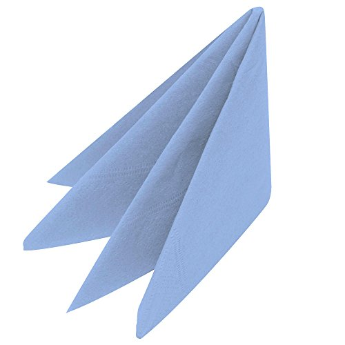 Swantex Sky Blue Napkins 33cm 2ply - Pack of 100   Disposable Napkins  Party Napkins  Paper Napkins  Dinner Napkins