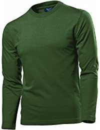 Hanes Fit-T Long Sleeve Olive S