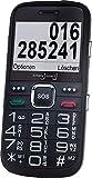 Großtasten Mobiltelefon, Seniorenhandy MB 200 schwarz, Handy ohne Vertrag mit Blutdruck und Pulsmessung