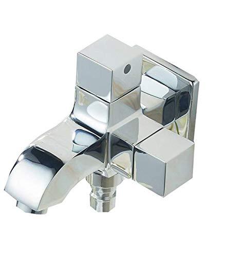 Antik Waschbecken Wasserhahn schwarz gold Kupfer Abtrenner Doppelbenutzung Doppel-Wasser Ein-In Zwei-Eckventil Wischmop Pool Waschmaschine Wasserhahn Doppelschalter B
