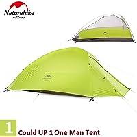 Naturehike Campeggio Impermeabili Tenda 1Persona Tenda Doppio Strato 4Stagioni Tenda Sleeping unità, Donna Uomo Bambino, LightGreen