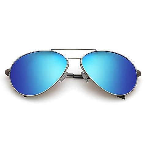 Polarisierte Sonnenbrille Damen/Unisex-Sonnenbrille/Mode-Farbe-Film-Frosch-Spiegel-B