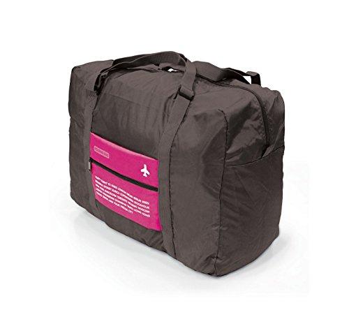 Ducomi® DLIFE Borsa Pieghevole da Viaggio.Tota da Viaggio Aperta: 46 x 35 x 19 cm - 32 litri - Borsa Pieghata: 18 x 14 cm (pink)