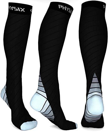 united kingdom beauty performance sportswear Physix Gear Sport Calze Compressione Graduata Uomo e Donna (20-30 mmHg) -  Calze Elastiche Sportive per circolazione, vene varicose, Gravidanza, ...