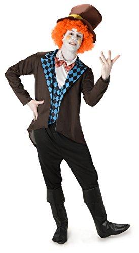 """Preisvergleich Produktbild Mad Hatter Herren Märchen Charakter Erwachsene Kostüm Neu (XL Biz su 48"""" Brust)"""