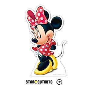 Star Cutouts Ltd SC1621 Minnie Disney - Recorte de cartón para fanáticos de Mniie Mouse y fiestas, 88 cm de altura, multicolor