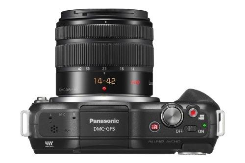 Panasonic DMC-GF5KAEGK Lumix Systemkamera (12 Megapixel, 7,5 cm (3 Zoll) LCD, Touchscreen, Full-HD, AVCHD) inkl. H-FS1442AE-K Lumix Vario Objektiv schwarz - 4