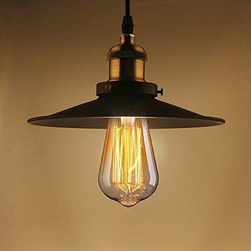 b2ocled Pendelleuchte Retro Industrie Metall Decken Lampenschirm E27Aufhängen Beleuchtung...