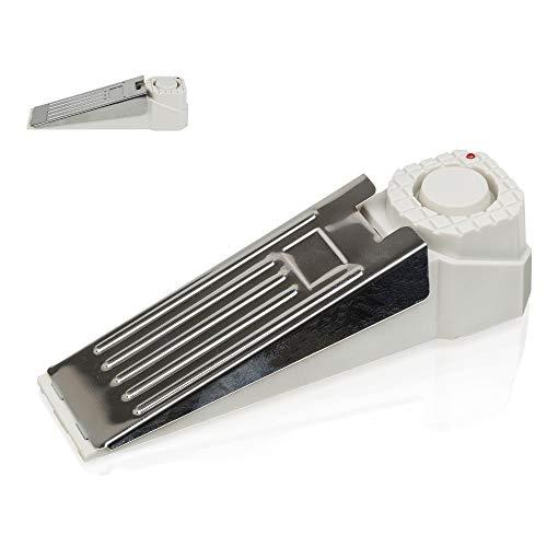 Safe2Home® hochwertiger Tür Keil Alarm - Türstopper Türkeil Alarmanlage Einbruchschutz für Ihre Tür mit Alarm 120dB