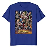 Marvel Avengers Infinity War Team Headshots Graphic Fiuywev T-Shirt For Men-Blue