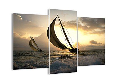 Bild auf Glas - Glasbilder - drei Teile - Breite: 130cm, Höhe: 100cm - Bildnummer 3158 - dreiteilig - mehrteilig - zum Aufhängen bereit - Bilder - Kunstdruck - GCB130x100-3158