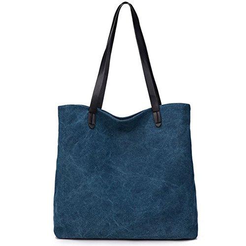 xy-fancy-damen-modisch-einfarbig-handtasche-leinwand-shopper-schulter-beutel-umhangetasche-blau