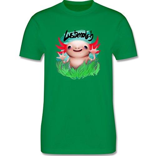 Sonstige Tiere - Lustmolch - Axolotl - Herren Premium T-Shirt Grün