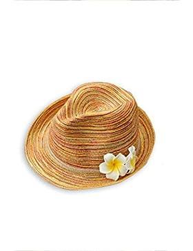 estate femminile cappello di paglia intrecciata Spiaggia cappello da sole Protezione solare pieghevole Cappello...