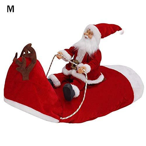 xuanyang524 Santa Hund Kostüm Weihnachten,Santa Haustier Hund Weihnachten Kleidung Weihnachtsmann Hirsch reiten Hunde verkleiden Sich Weihnachtsfeier Kostüm - Hirsch Kostüm Für Hunde