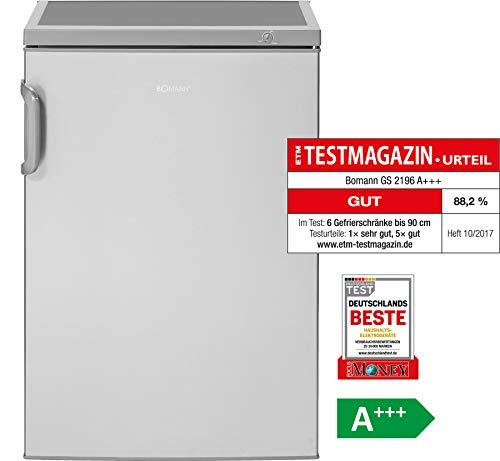 Bomann GS 2196 Gefrierschrank / A+++ / 84.5 cm / 94 kWh/Jahr / 82 L Gefrierteil/Türanschlag wechselbar
