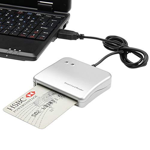 QAIYXM USB Smart Card Reader IC/ID-Kartenleser-Qualitäts-Drop PC/SC Smart Card Reader für Windows Linux OS