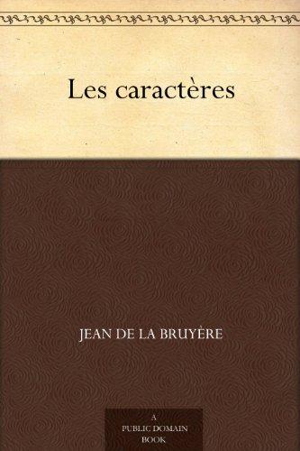 Couverture du livre Les caractères