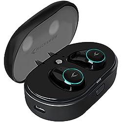 MYCARBON V5.0 Ecouteur Bluetooth Oreillette sans Fil Sport Autonomie Max 30h Réduction de Bruit CVC 6.0 Boîte de Charge Etanche IPX 5 pour Samsung iPhone 6 7 8 X Sony iPad Tablette etc.