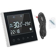 Fdit 110V Termóstato de Calefacción de WiFi Control Inalámbrico de Pantalla Táctil de Digitaces LCD de
