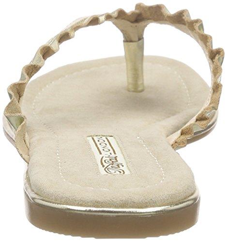 Buffalo 15bu0222 Kid Leather, Tongs femme Or - Gold (GOLD 24)