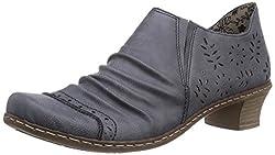 Rieker Damen 52176 Slipper Blau (jeans / 15) 40 EU