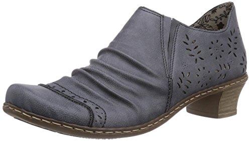 Rieker 52176 Women Loafers, Damen Slipper, Blau (jeans/15), 39 EU