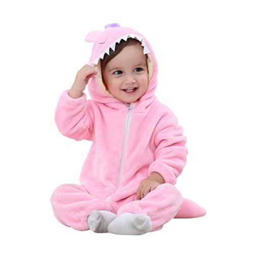 Baby Outfits, FEITONG Newborn Baby Jungen Mädchen Rosa Monster Karikatur Hooded Spielanzug Outfits (24M, (Kostüme Baby Niedlichen Monster)