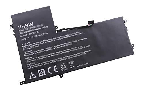 vhbw Batterie 3350mAh tablette netbook HP ElitePad 900 AT02025XL D3H85UT D7X24PA remplace 685368-1B1 685987-001 99TA026H AT02XL HSTNN-C75C HSTNN-DB3U