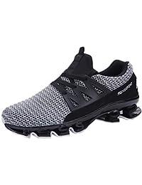 1bd2c0baaea7b ELECTRI Homme Mode Grande Taille Sneaker Marche Occasionnel Glissent sur  Les Chaussures Sport Maille Sport Plein
