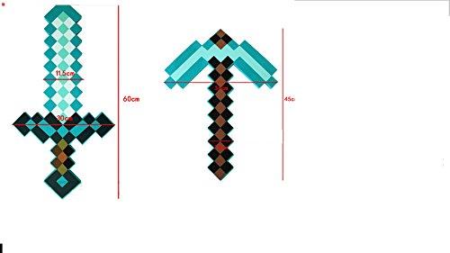 Preisvergleich Produktbild Flourishing Minecraft, Blaues Diamantschwert und Spitzhacke im Set