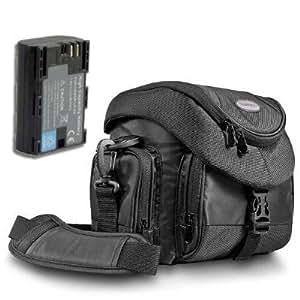 KIT Mantona Premium System Tasche schwarz + Bundlestar Qualitätsakku für CANON LP-E6 mit Infochip - Intelligentes Akkusystem - 100% kompatibel *NEUE VERSION* Für Canon EOS 60D 7D 5D Akku LP-E6