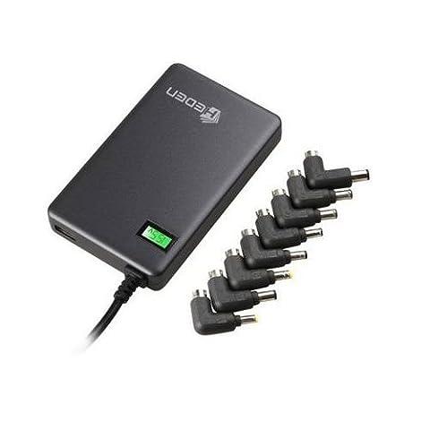 Mini chargeur universel 90W pour PC portable avec 8 embouts + 1 sortie chargeur USB. Avec Led d'indication de la tension - Compatible HP - Compaq - ASUS - DELL - FUJITSU - LITEON - SAMSUNG - NEC - TOSHIBA - SONY - FUJITSU ... Voir le détail des embouts compatibles dans le