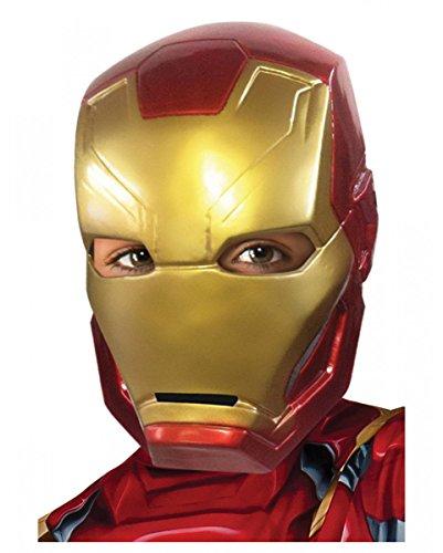 Horror-Shop Iron Man Kinder-Halbmaske als Superhelden Kostümzubehör aus -
