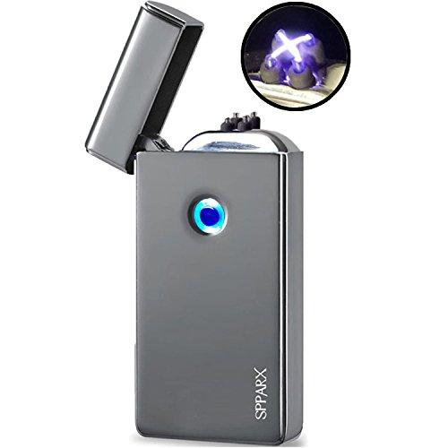 USB Feuerzeug, lichtbogen feuerzeug. Neue Technologie - Neue Generation elektro feuerzeug, SPPARX plasma feuerzeug, Elektronische Feuerzeug, Dual-Bogen-Strahl, USB wiederaufladbare winddicht, USB-Kabe