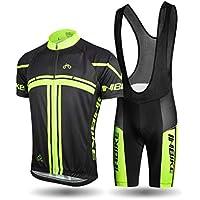Inbike Ropa Verano Conjunta de Ciclismo de Hombre Culotte Ciclismo Hombre Maillot Camiseta + Pantalones para Bicicleta (L)