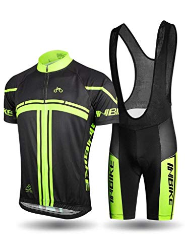 INBIKE Ropa Verano Conjunta de Ciclismo de Hombre Culotte Ciclismo Hombre Traje Maillot Camiseta + Pantalones para Bicicleta (XL)