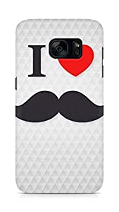 Amez designer printed 3d premium high quality back case cover for Samsung Galaxy S7 (i love moustache)