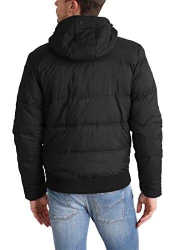 BLEND Rave Herren Winterjacke Steppjacke Kapuze Black (70155)