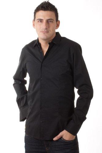 Kiro Yoshikana langarm Hemd Never Die black 4105 1999, Größe:L