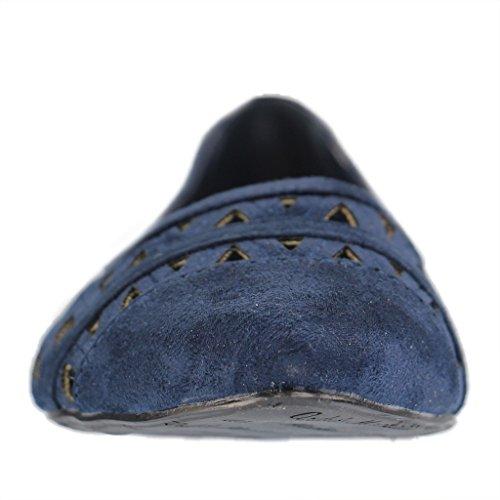 ANDRÉS MACHADO - Damen Ballerinas - Blau Schuhe in Übergrößen Blau