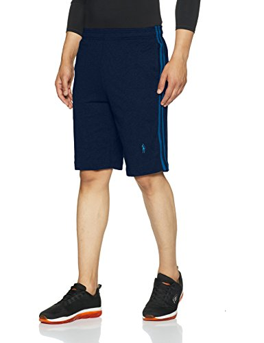Jockey Men's Cotton Shorts (9426_Navy & Seaport Teal_Large)