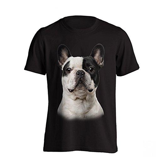 The T-Shirt Factory - Camiseta Modelo Bulldog Francés para Hombre (M) (Negro)