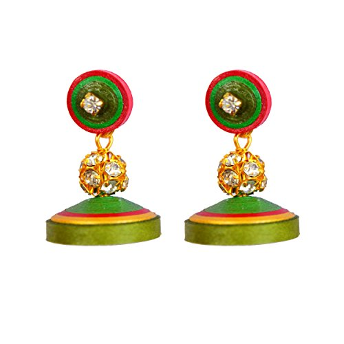 Kaagitham paper quilling everyday wear jhumka earring  available at amazon for Rs.280