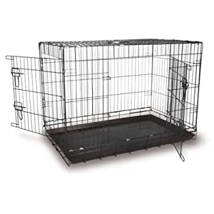 fold flat dog pet cage crate SMALL (61.5cm x 46.5cm x 54.5cm) by Home & leisure Online